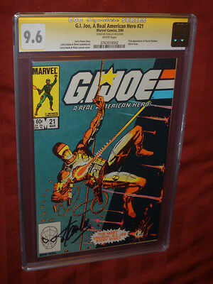 G.I. Joe #21 CGC 9.6SS  Signed by Stan Lee!     1st Storm Shadow