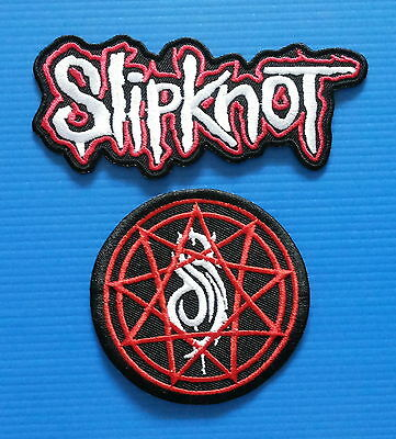 2 LOT SLIPKNOT Metal  Embrdered Iron Or Sewn On Patches Free Ship