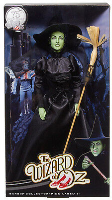 WIZARD OF OZ 75th ANNIVERSARY THE WICKED WITCH OF THE WEST BARBIE DOLL Y0246 NIB