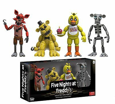 """FNAF Five Nights At Freddy's Collectible Vinyl 2"""" Figure Set 1"""