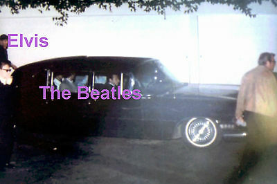 Elvis Presley The Beatles In Limo Perugia Way House Bel Air 8/27/65 Photo Candid