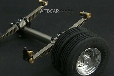 1/14 metal axle , wheels with rubber tyre SET for 1/14 TAMIYA  truck Trailer