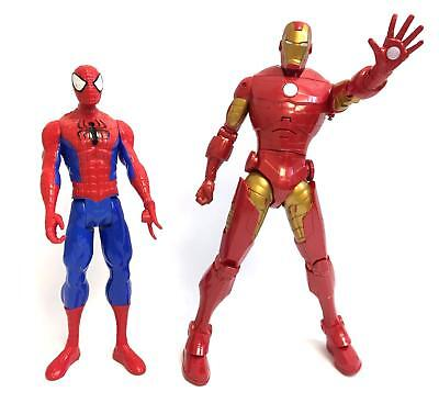 Lot of 2 Extra Large Action Figures (Spiderman & Ironman)