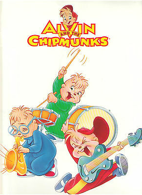 Alvin And The Chipmunks Press Kit Lot Coloring Sheet Advertising Pages Photos
