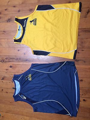 2x ACT Brumbies Super Rugby Training Singlets