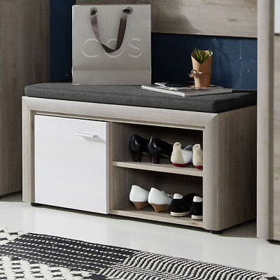 schuhbank sitzbank truhe schuhregal mit kissen 6 paar schuhe schrank ablage 60cm eur 36 95. Black Bedroom Furniture Sets. Home Design Ideas