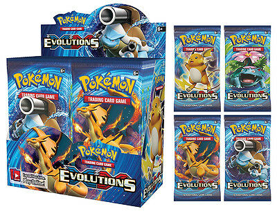 Choose 1 to 8 XY Evolutions Booster Packs Pokemon Cards Trading Card Game