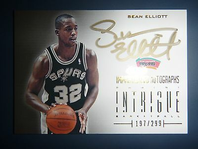 Sean Elliot Immortalized Auto CArd