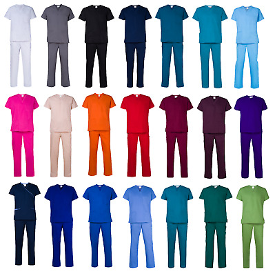 Scrub Set - Medical Surgical Hospital Uniform Scrubs Top Pants - FREE Shipping!