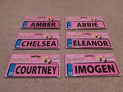 Personalized Name Plate, Pedal Car, Electric, Bike, Toys, Door Plate, Nursery x1