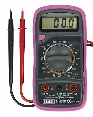 Limited Edition Pink Multimeter Electrical Tester 8 Function Temperature Probes