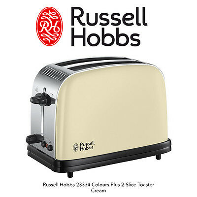 Russell Hobbs 23334 Colours Plus 2-Slice With Defrost & Cancel Toaster Cream