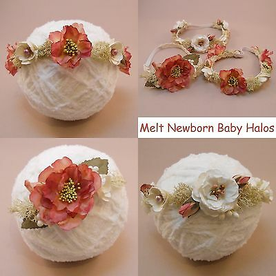Rustic Newborn Baby Halo, Headband, Tieback, Handmade in UK, Photography Prop.