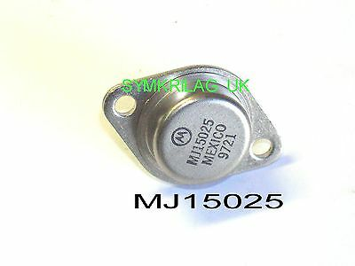 "Mj15025 Genuine Motorola High Power Pnp Transistor 250V/16A/250W ""powerbase"" To3"