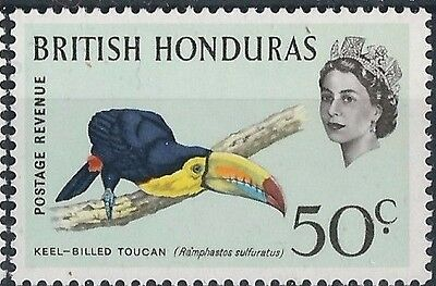 k345) British Honduras. 1962. MNH. SG 210 50c Birds. Keel-billed Toucan