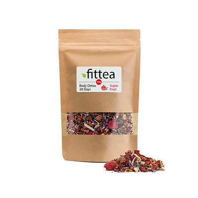 Fittea Superfruit Detox Tea 28 Days 100g / New & Sealed
