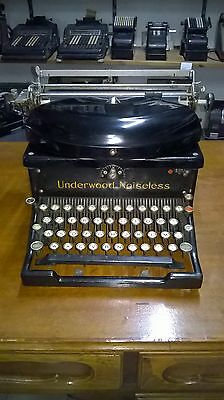 UNDERWOOD NOISELESS MACCHINA DA SCRIVERE del 1929 OLD & RARE TYPEWRITER