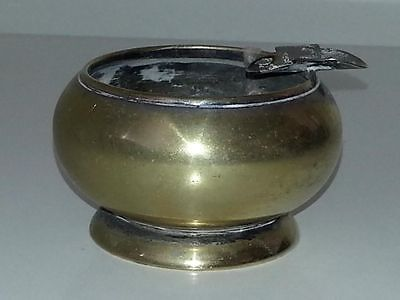 Silver plate / electroplate vintage Art Deco antique small ashtray ash tray bowl