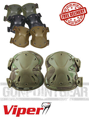 Viper Tactical Hard Shell Knee Pads in Black, Tan, OD, VCAM - Free UK Shipping