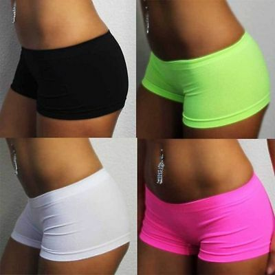 Super STRETCH Hotpants Uni NEON GELB PINK WEISS SCHWARZ NATUR Pants Panty