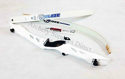 "Rhd 68"" White Core Archery Jet Recurve Bow Set"