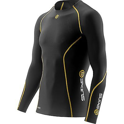 Skins A200 Men's Long Sleeve  Compression Running Top  size L