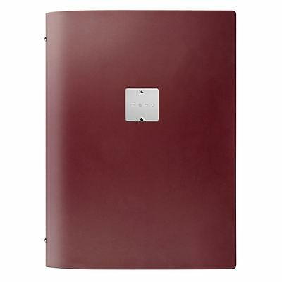 Dag Fashion Menu Holder in Bordeaux Made of Leather with 12 A4 Sheets