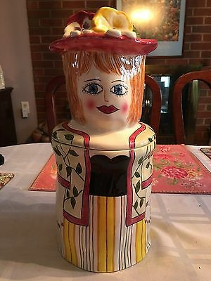 """Bella Casa Susan Paley Ganz """"Laura"""" Canister Cookie Jar  Collectable"""