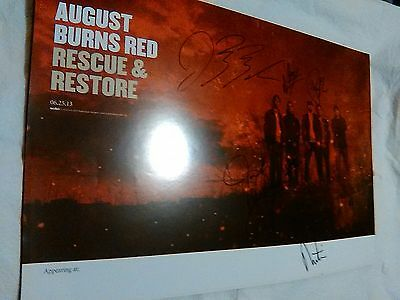 August Burns Red Rescue & Restore Poster Signed