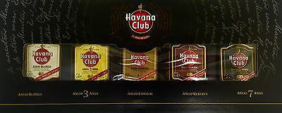 Havana Club Rum Sampler Variety 5 Pack Rare Complete Collection SEALED + RECIPES