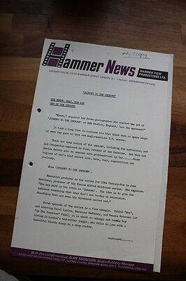 HAMMER FILMS - JOURNEY TO THE UNKNOWN Original Press SHEET
