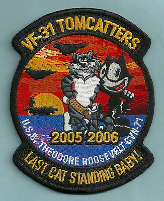 Vf-31 Tomcatters Navy Fighter Squadron Patch Uss Roosevelt Westpac 05-06