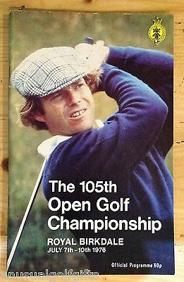 1976 Open Championship Golf Programme 39 year old program in excellent condition