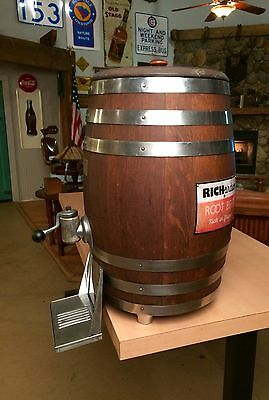 Vintage Original RICHARDSON ROOT BEER BARREL DISPENSER Soda Fountain Sign