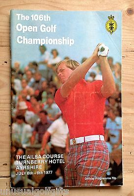 1977 Open Championship Golf Programme 40 year old program in very good condition