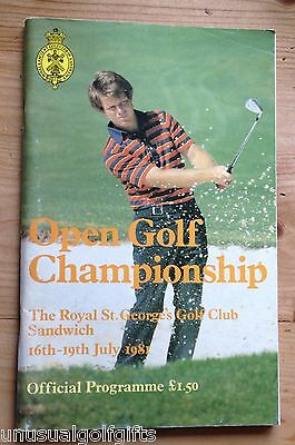 1981 Open Championship Golf Programme 36 year old program in very good condition