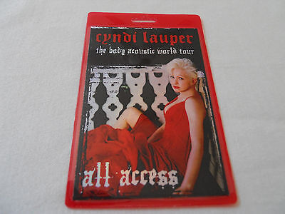 Cyndi Lauper - The Body Acoustic World Tour 2005 - All Access Laminate Pass