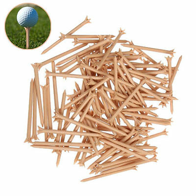 "Quantity of 10,000 Golf Tees - Zero Friction 3-prong 3 1/4"" Tees - Natural *NEW*"