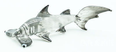 Figurine Animal Hand Blown Glass Hammerhead Shark Fish Aquarium - GPSK005