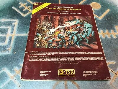 The Lost Caverns Of Tsojcanth ~ Advanced Dungeons & Dragons ~ S4 #9061 TSR 1982