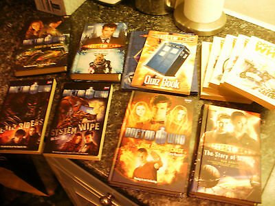 job lot of Doctor Who books. Bundle, lot.