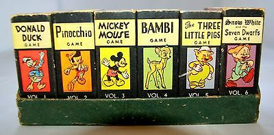 ~1946 Disney Mickey Mouse Library Of Card Games. 6 Games In Display