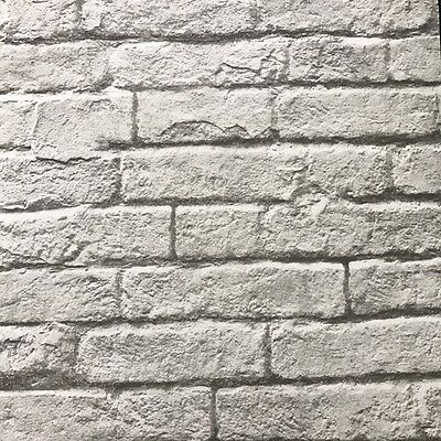 Magnolia Home Grey Realistic Brick and Mortar on Sure Strip Wallpaper MH1556