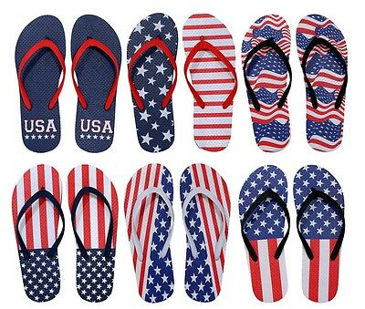 Women's Flip Flops - American Flag Prints    Case Pack 96