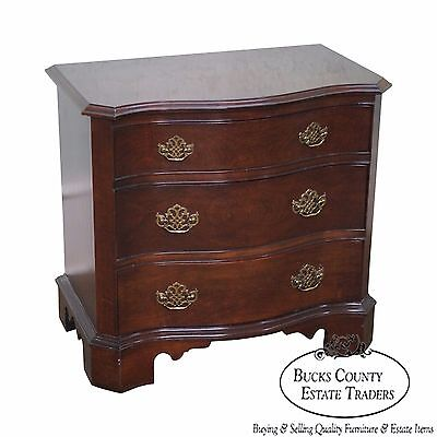 Pennsylvania House Solid Cherry Chippendale Style Small Accent Chest/Nightstand