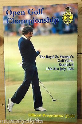 1985 Open Championship Golf Programme 32 year old program in excellent condition
