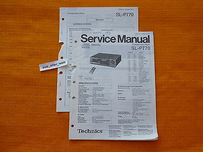 SERVICE MANUAL Technics SL P770 english Anleitung hifi