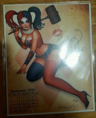 BAM! Box Exclusive Signed Print - Harley Quinn by Nathan Szerdy