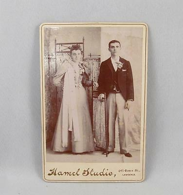 Antique Cabinet Photo Of A Couple By Hamel Studio Lawrence Usa
