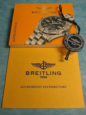 BREITLING Quartz Aerospace Chronometer Watch Information Manual, Tag & Directory